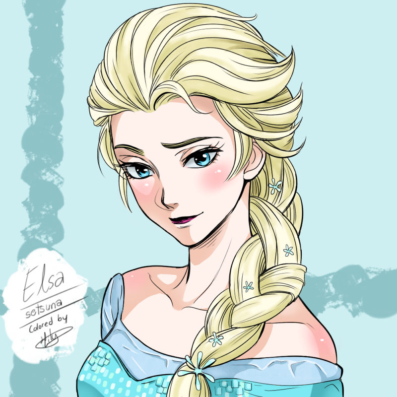 Elsa Drawing Outline at GetDrawings.com   Free for personal use Elsa ...