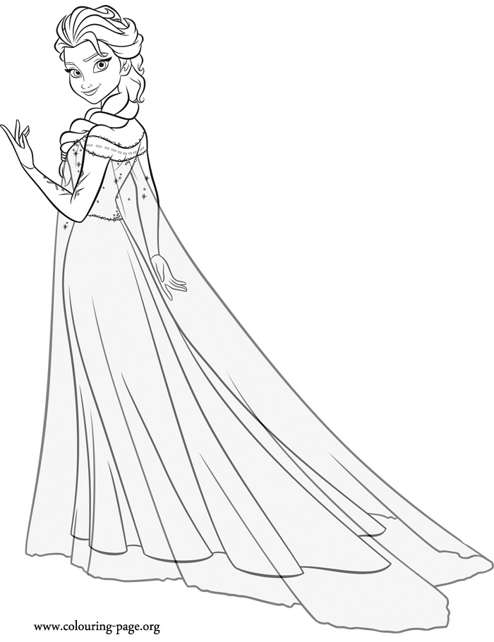 700x910 28 Collection Of Elsa Full Body Coloring Pages High Quality