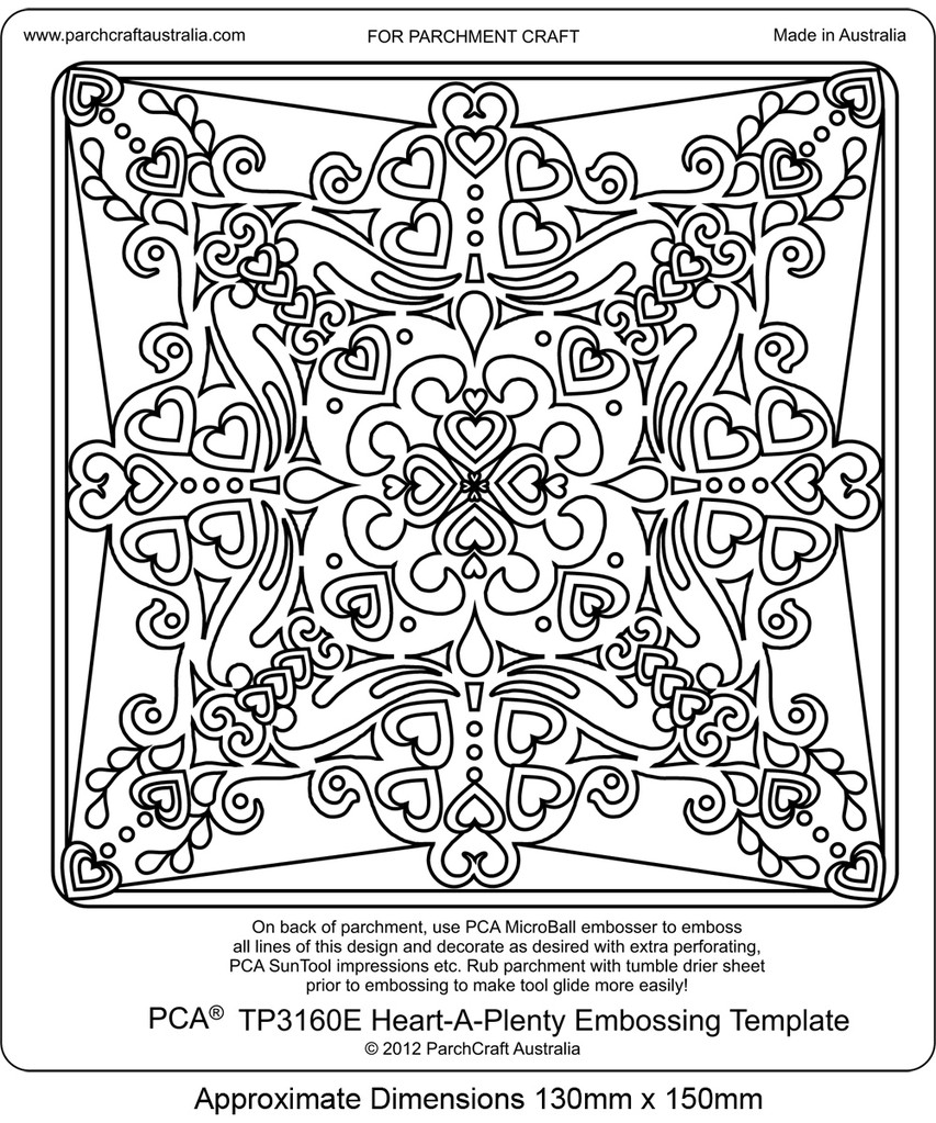 853x1023 Parchcraft Australia Pca Easy Embossing Templates Pictures