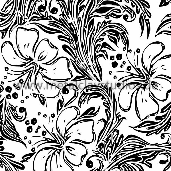 600x600 Rubberstamp Hibiscus Emboss