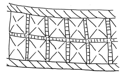 539x329 A B. Drawings Of Part Of The Bands Of Pyramid Shaped Embossed