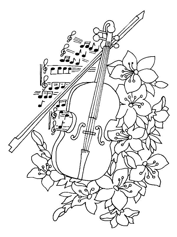 600x800 In Case Of Emergency! 62 Music Themed Coloring Pages. Great