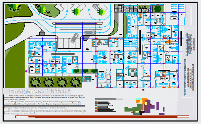 650x400 Emergency Area Design Drawing In Hospital Building Design Drawing