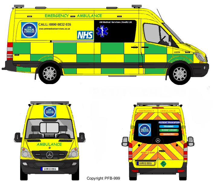 705x604 Fictional Am Medical Services Mercedes Sprinter Emergency