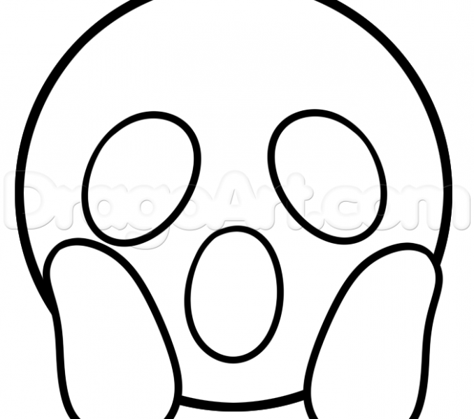 678x600 How To Draw The Devil Emoji How To Draw Surprised Emoji Step 4 How
