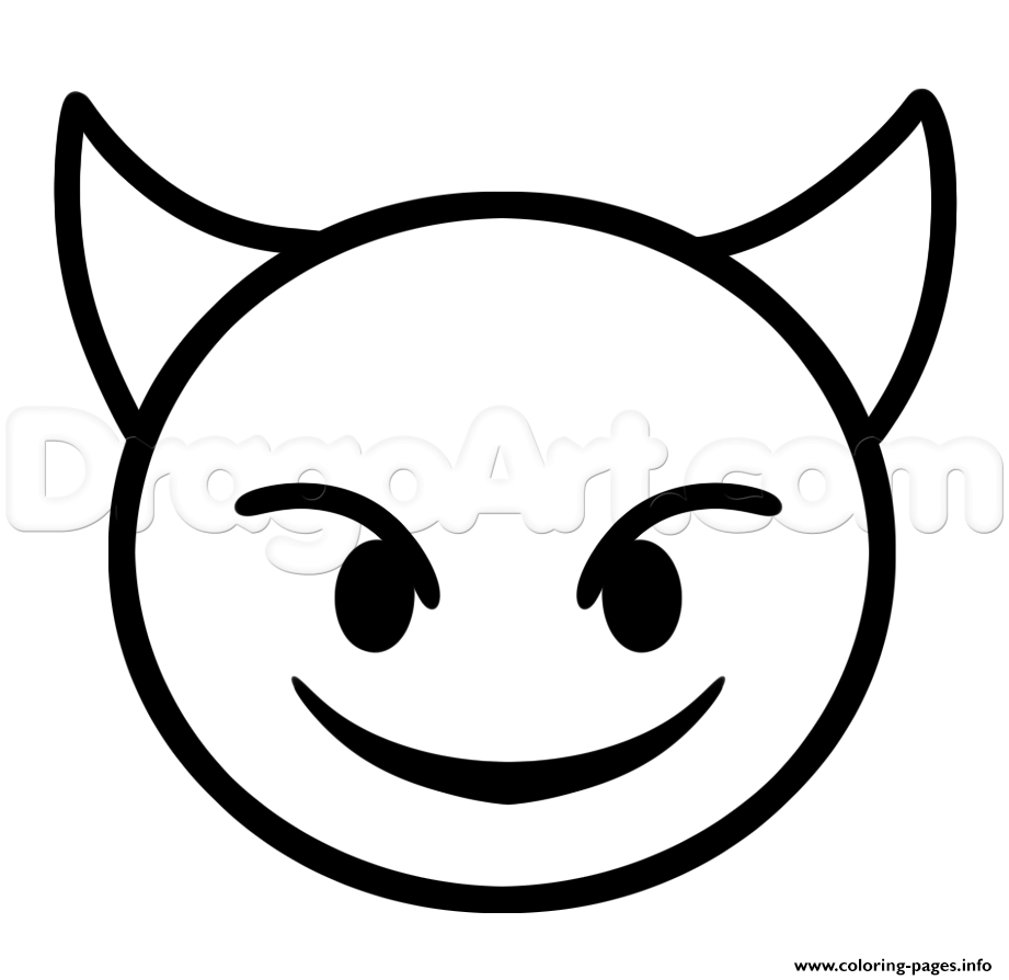 921x894 Print How To Draw Devil Emoji Step Coloring Pages Drawings