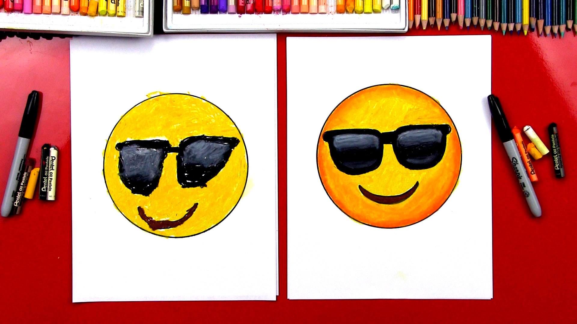 1920x1080 How To Draw A Cool Emoji
