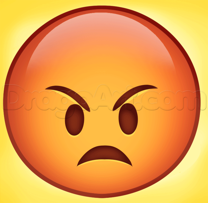 678x664 How To Draw Angry Emoji, Step By Step, Symbols, Pop Culture, Free