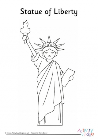 320x452 Empire State Building Colouring Page
