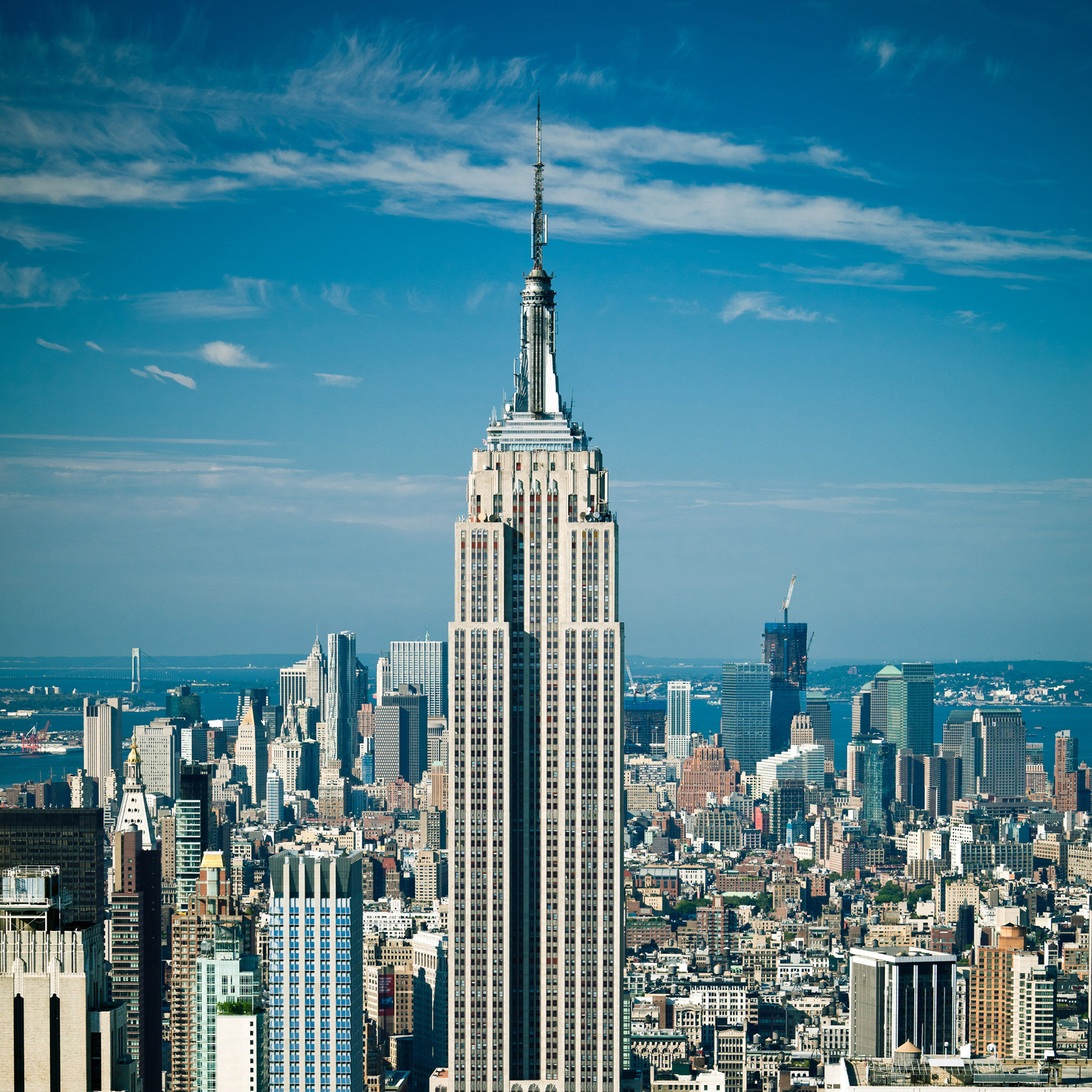 2048x2048 Empire State Building Top View Hd Wallpaper, Background Images