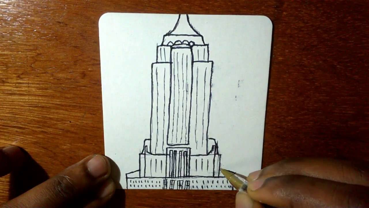 1280x720 How To Draw Cartoon Empire State Building