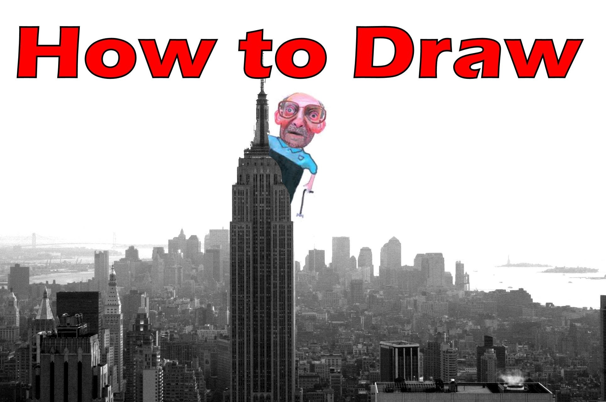 1928x1280 How To Draw The Empire State Building Step By Step New York