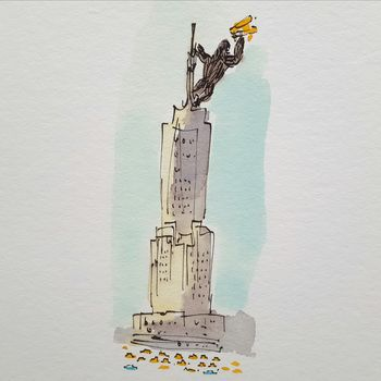 350x350 Empire State Building New York Giclee Print By Chris Gent