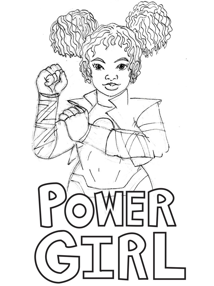 889x1183 Empowering Female Superheroes Coloring Pages