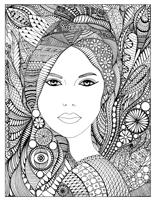 600x776 Color Me Lovely Adult And Teen Coloring Book With Empowering