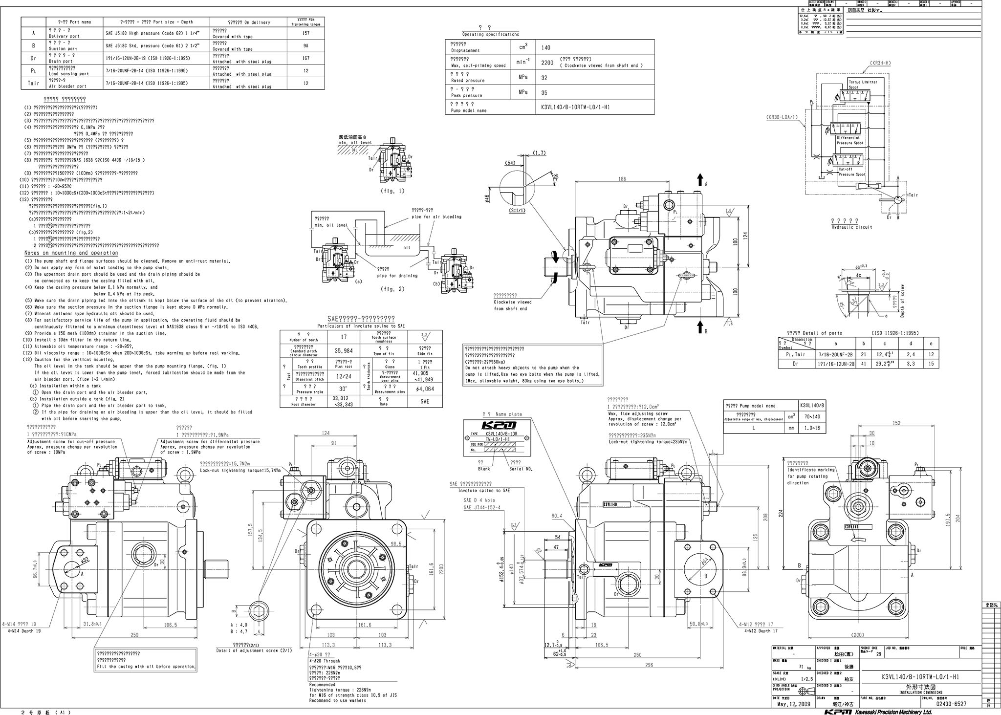 Engineering Drawing Symbols And Their Meanings Pdf At Getdrawings Kawasaki Wiring Diagram Chart 2048x1463 K3vl Axial Piston Pump