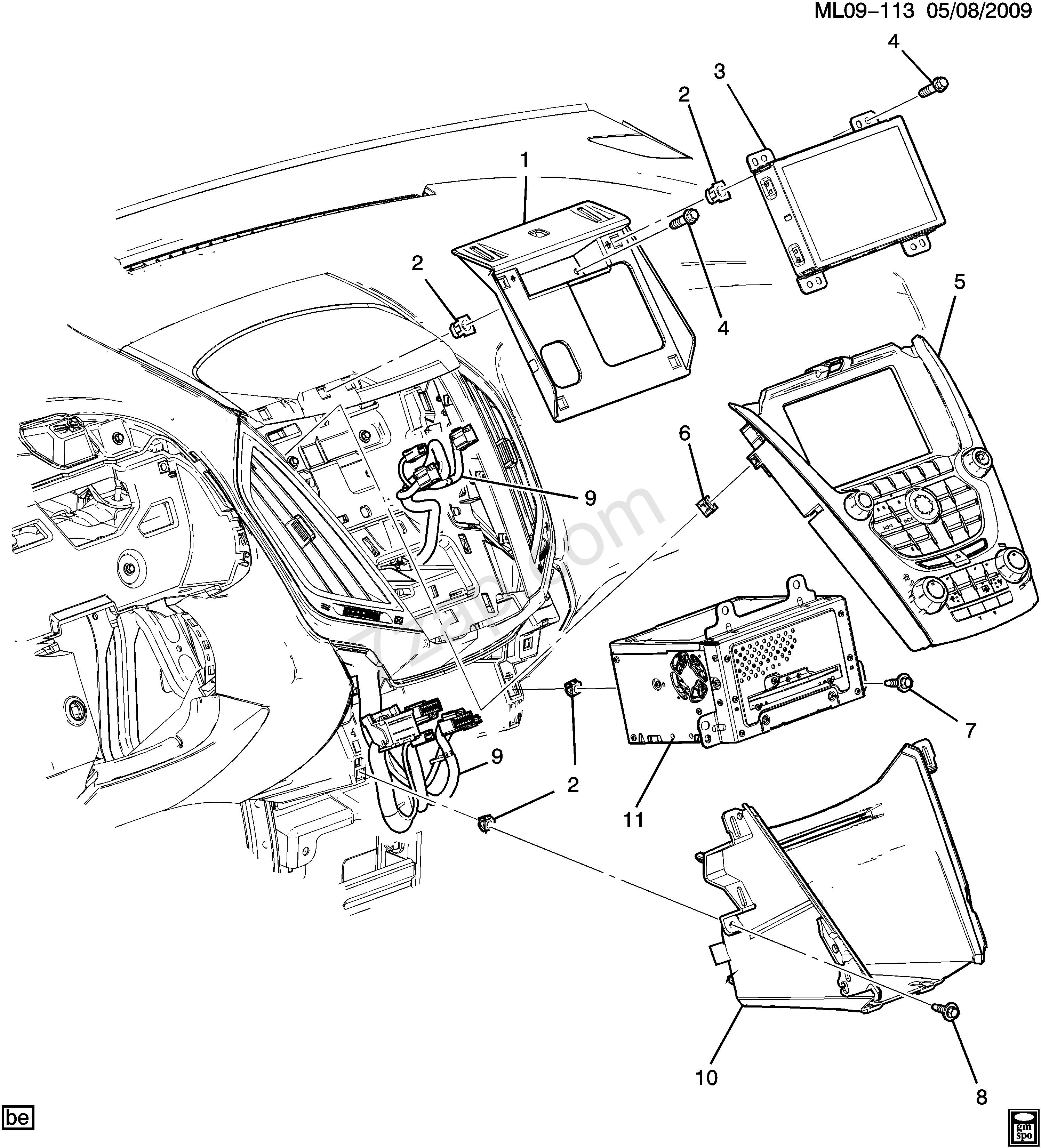 2993x3301 2016 2017 Lf,lh,lj Radio Mounting (Uff,ufu,ufq,uhq) Chevrolet
