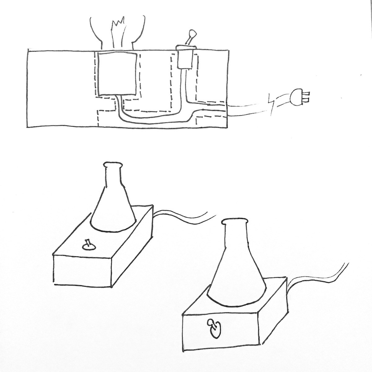 1200x1200 The Laboratory Lamp Is A Bulb Inside An Erlenmeyer Flask