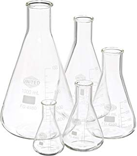 282x320 500ml Erlenmeyer Flask Narrow Neck, Eisco Labs 3.3 Borosilicate