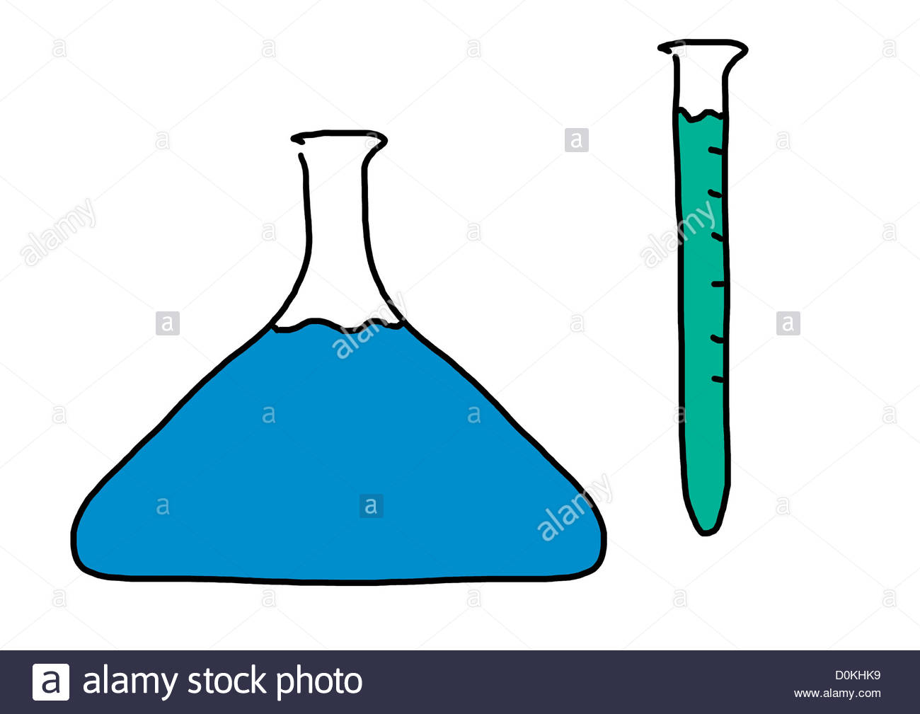 1300x1009 Chemistry Laboratory Test Tube Flask Drawing Illustration Pictog