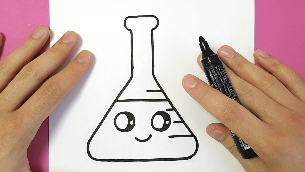 1280x720 How To Draw An Erlenmeyer Flask Cute And Easy