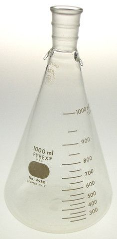 235x480 Pyrex 1000 Ml Erlenmeyer Flask Glass 4980 Round Bottom Laboratory