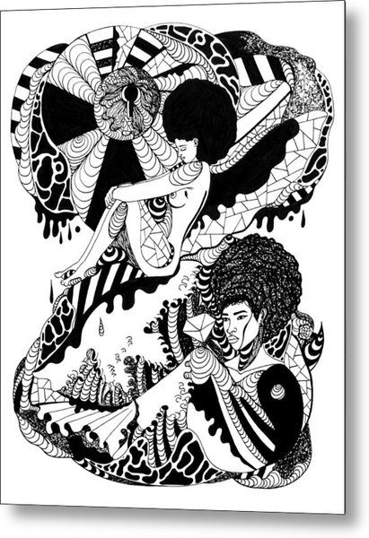 411x600 Afrocentric Escape Drawing By Kenal Louis