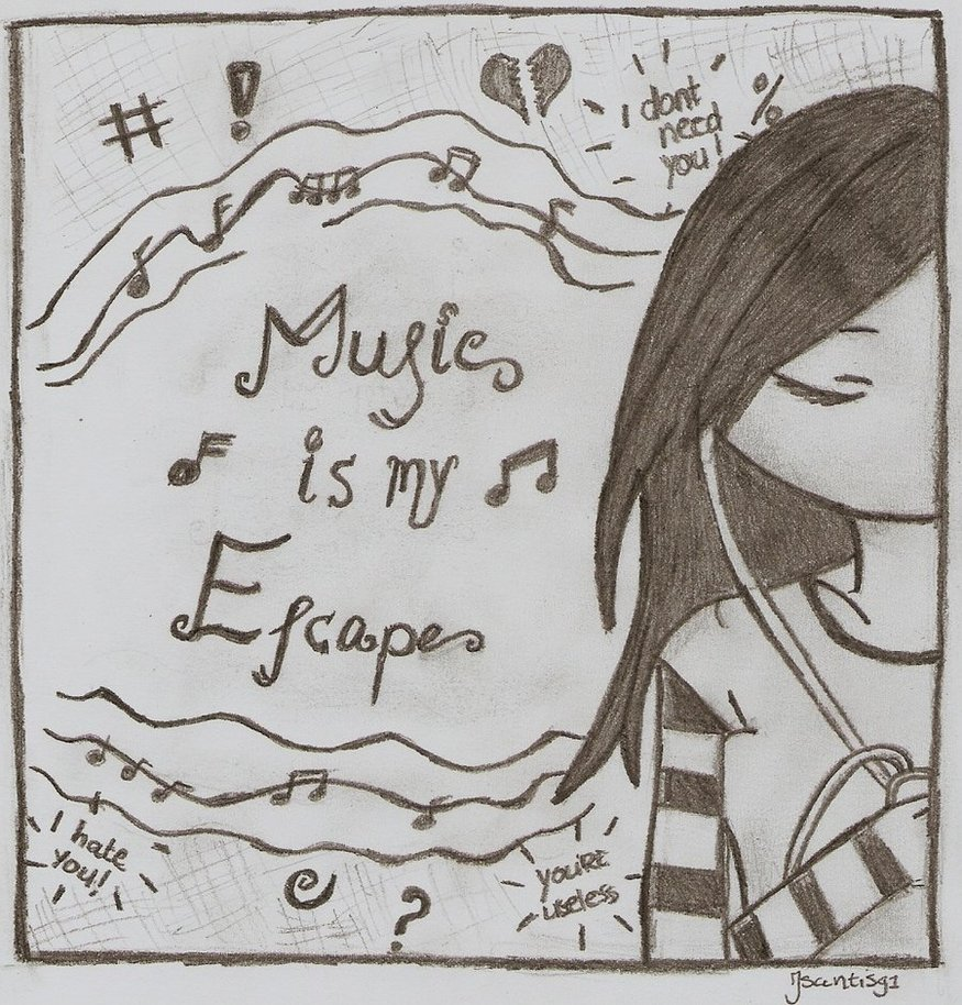 875x914 Music Is My Escape By Jsantis91