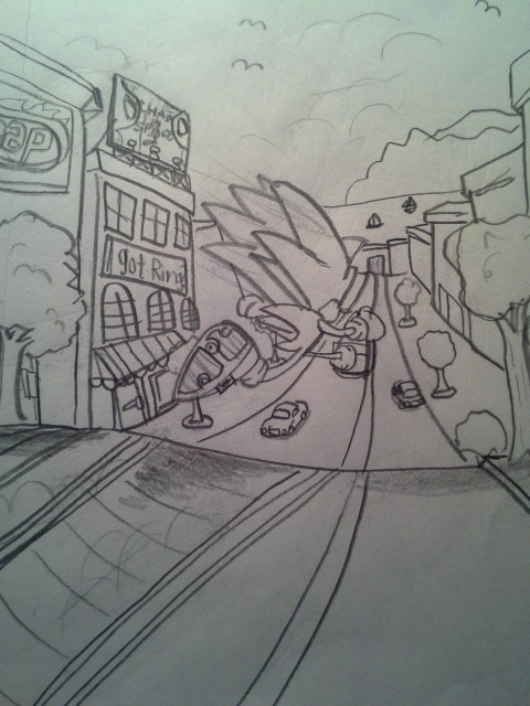 480x640 Sonic Generations City Escape Drawing 3 By Gaming Master