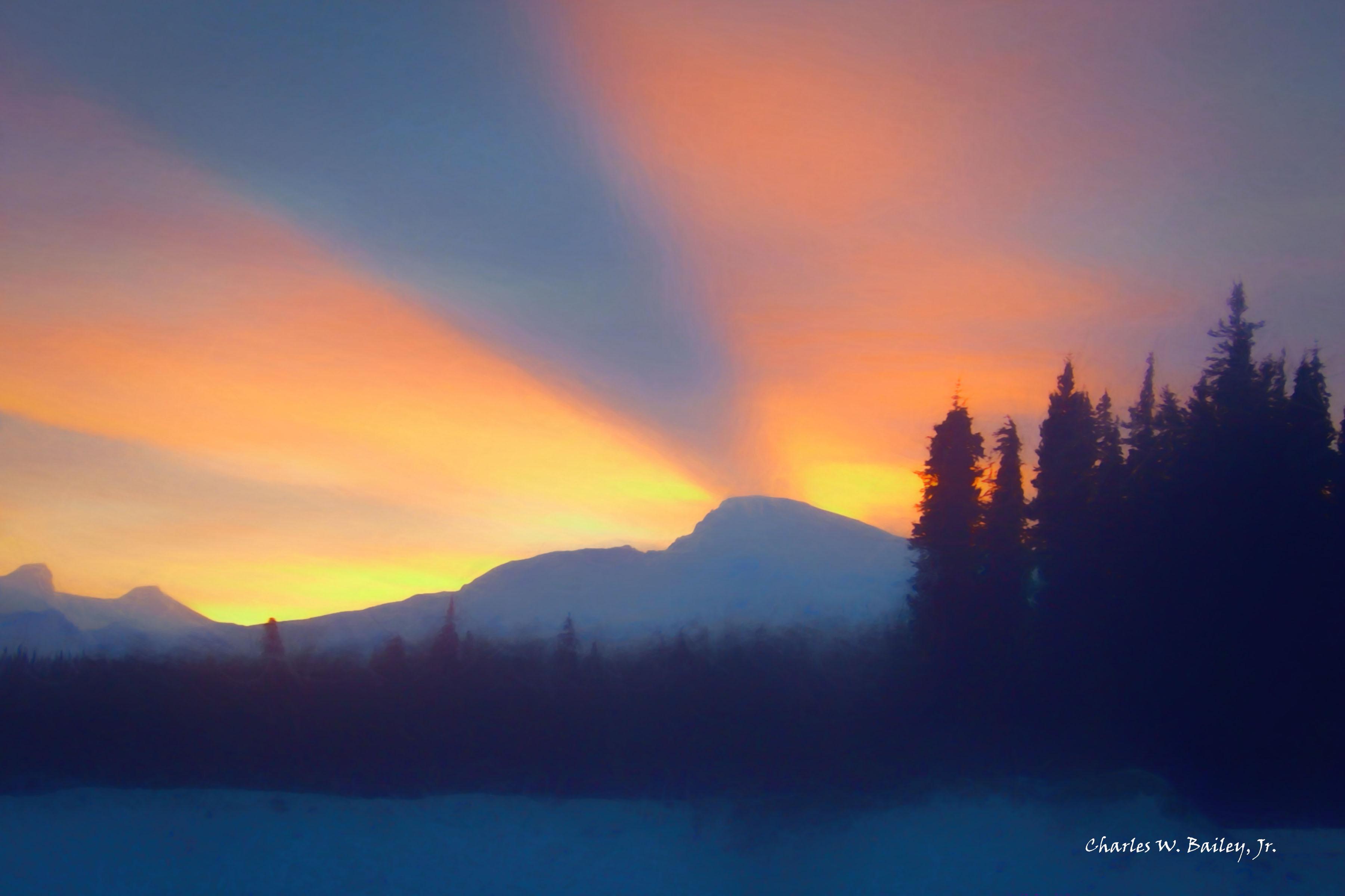 3600x2400 Wallpaper Sunlight, Drawing, Sunset, Sunrise, Evening, Horizon