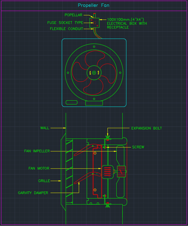 Exhaust Fan Symbol Drawing At Getdrawings Free For Personal