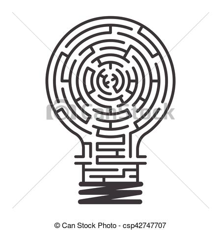 450x470 Idea Maze Game White Background. The Maze In Light Bulb, Maze Idea