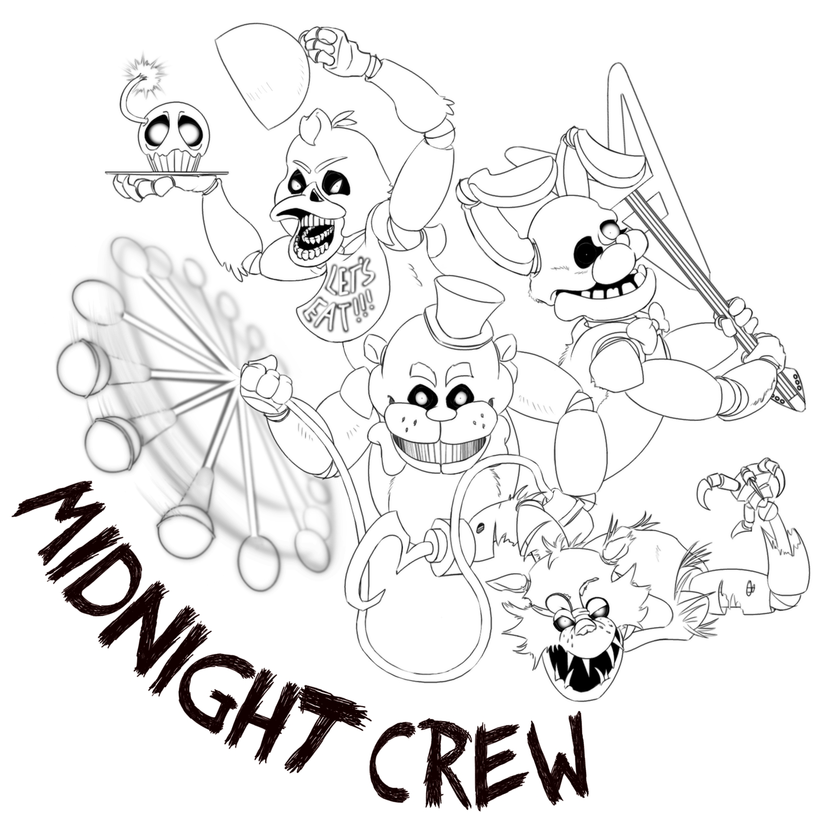 1620x1616 Expert Fnaf 4 Coloring Pages All Characters Dr