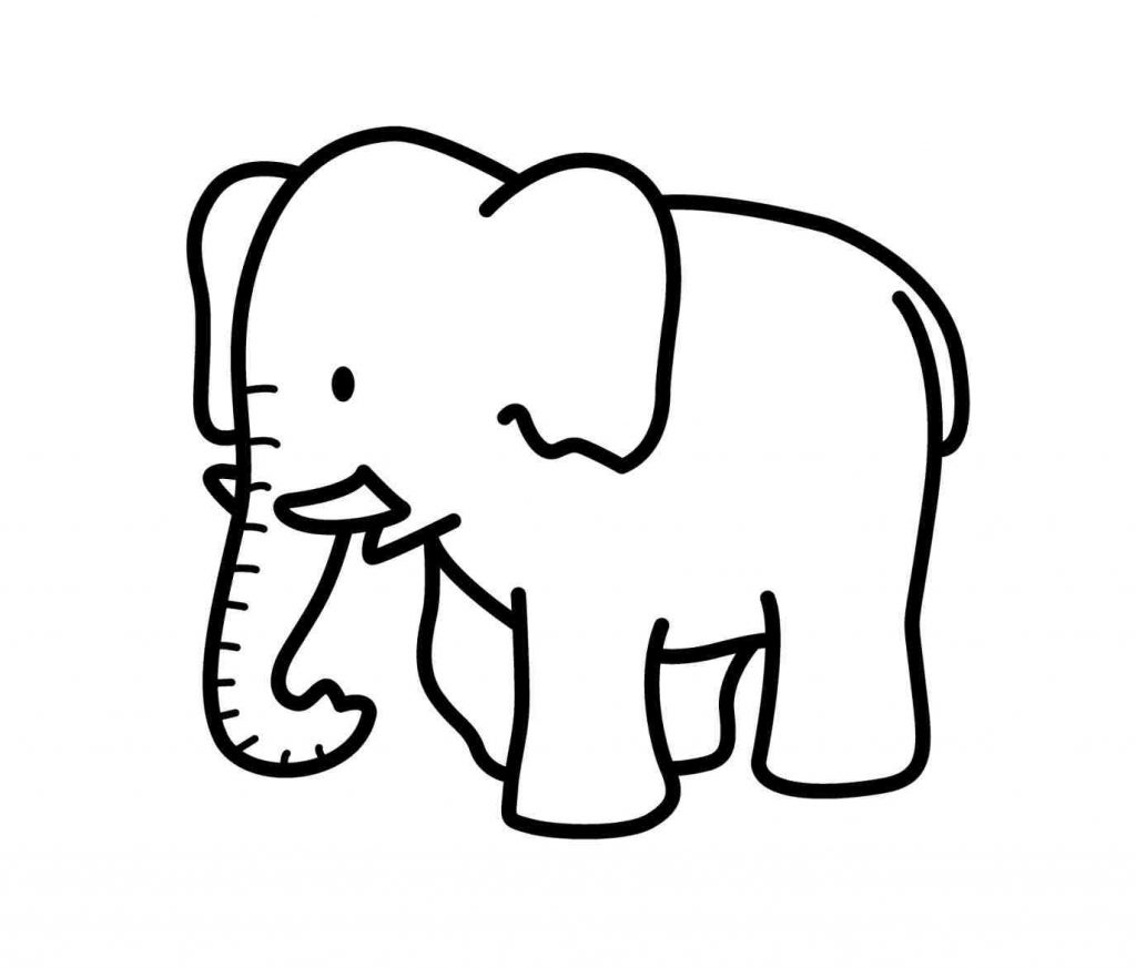 1024x873 Inspiring Cartoon Elephant Outline Expert Drawing Pictures
