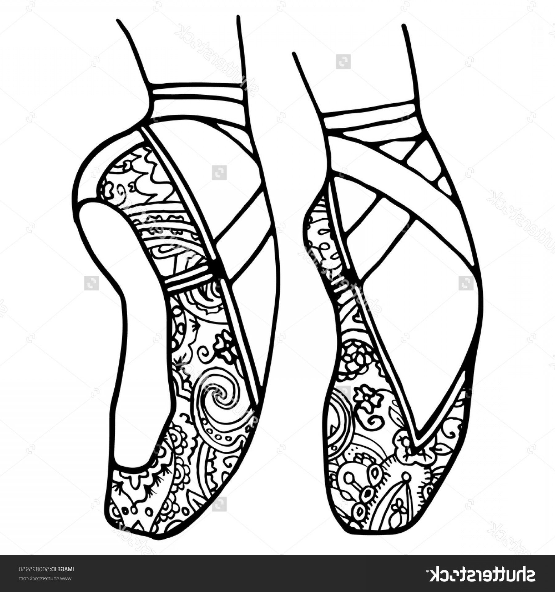 1800x1920 Cute Expert Pointe Shoes Coloring Pages Shoe Drawing
