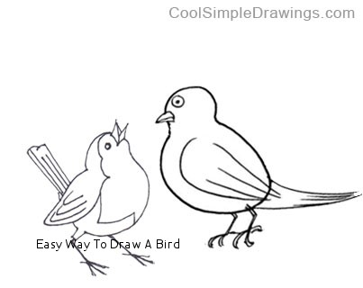 403x320 Easy Way To Draw A Bird Expert Tips Simple Bird Line Drawing Www