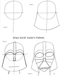 236x305 How To Draw Darth Vader's Mask By