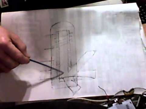 480x360 Rocket Stove Space Heater Drawing And Explanation