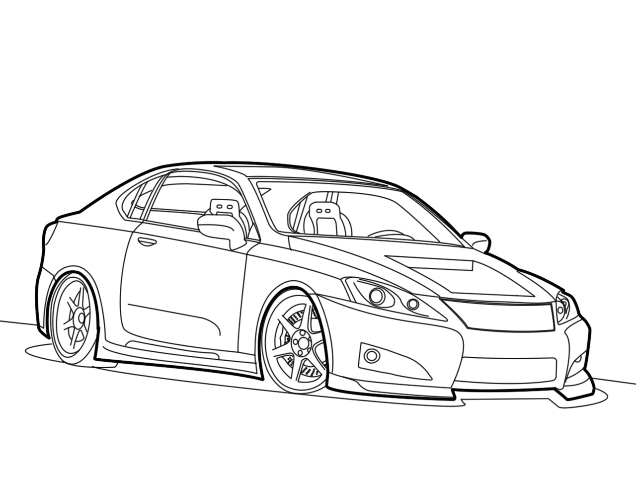1280x960 Lexus Image Drawing Drawing Skill