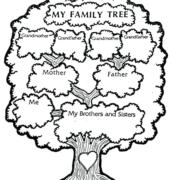 736x768 Family Tree Coloring Pages Printable Printable Family Tree Family