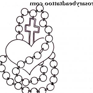 300x300 Fancy Cross Rosary Name Tattoo On Arm Thecolorbars