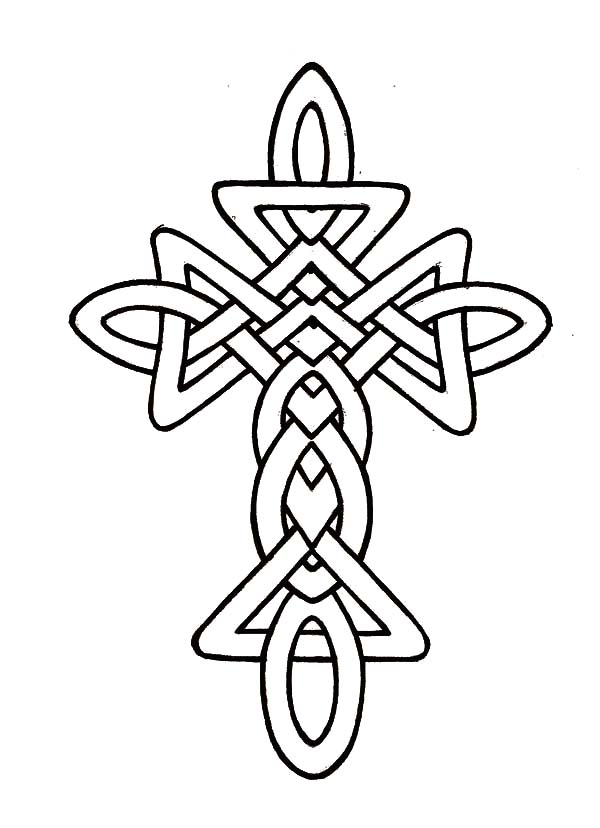600x828 Coloring Pages Of Celtic Crosses Morphed Celtic Cross Coloring