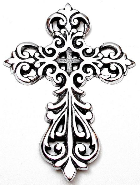 448x590 Collection Of Filigree Cross Drawing High Quality, Free