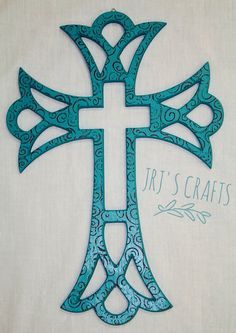 236x333 Gods Love Cross, Fancy Wood Cross, For Wall Hanging Or Ornament