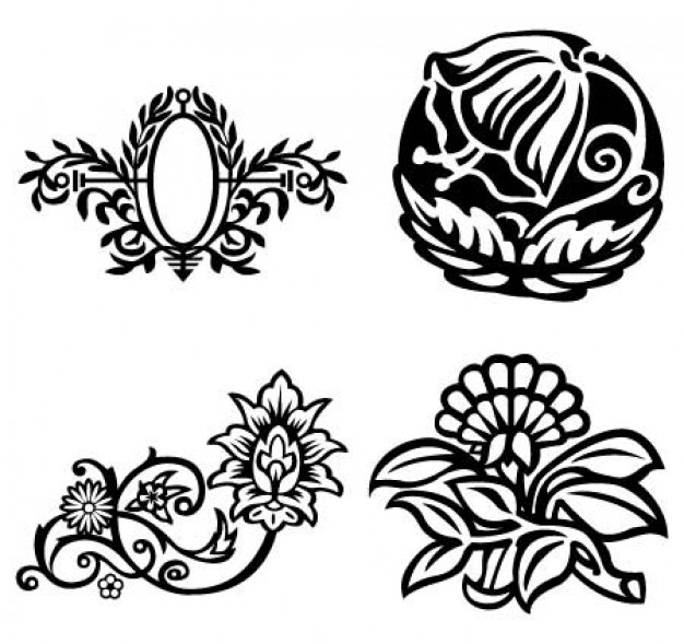 626x589 Fancy Flowers, Floral Oval Frame Vectors Vector Free Download