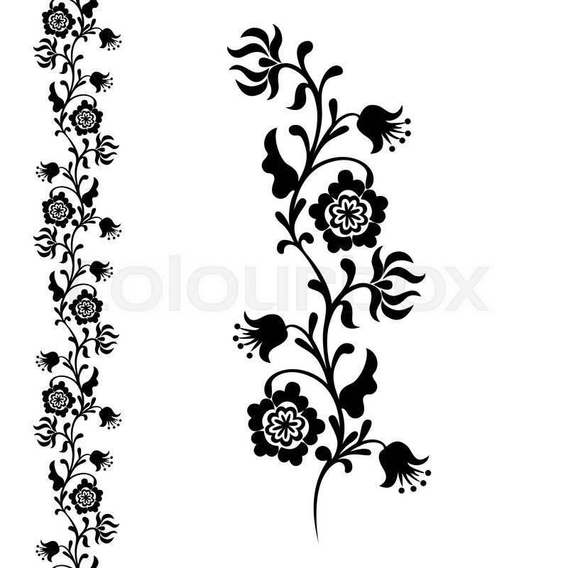 800x800 Painting Closeup Fancy Flower, Seamless Pattern Floral Ornament