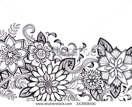 450x365 Pictures Drawing Flower Patterns,