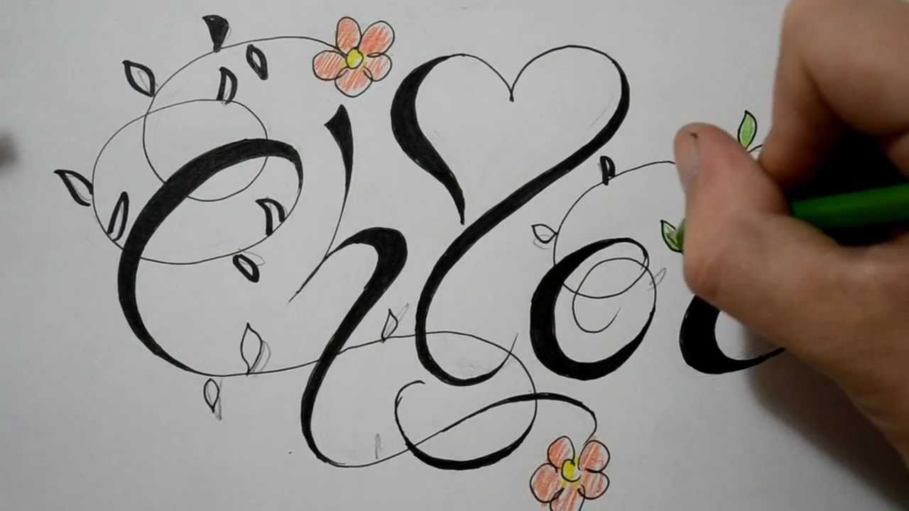 1280x720 Fancy Flower Drawings Name Tattoos