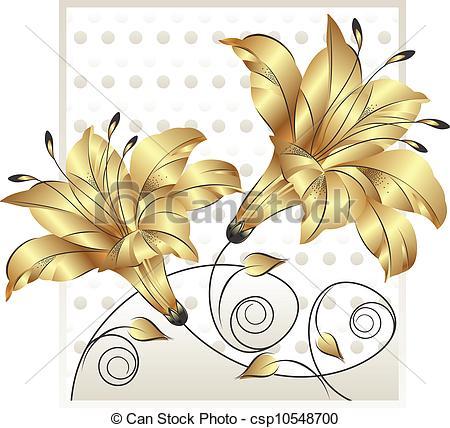 450x428 Fancy Golden Flower Design.
