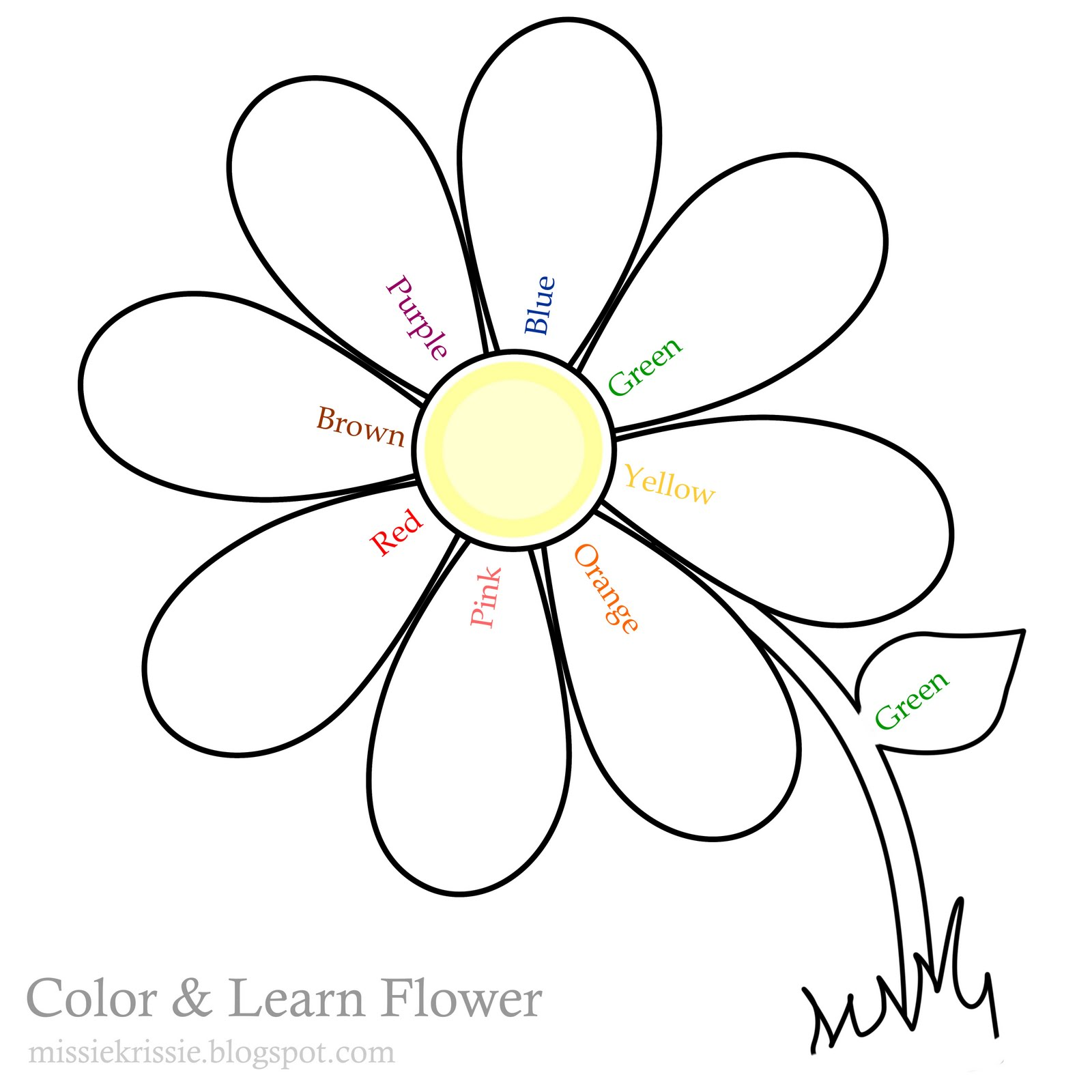 1600x1600 Coloring Page Flowers To Color Pictures Of Print Fancy Flower 77